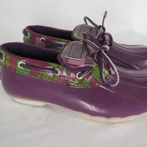 Sperry Top Sider Purple Rain Shoes Boots Womens